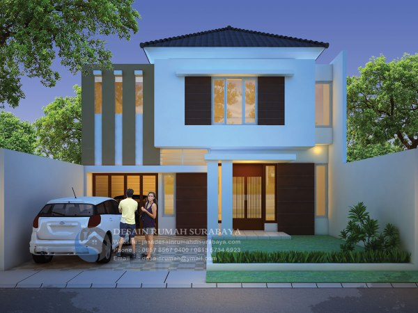 Jasa Desain Rumah Mewah 2 Lantai di Surabaya