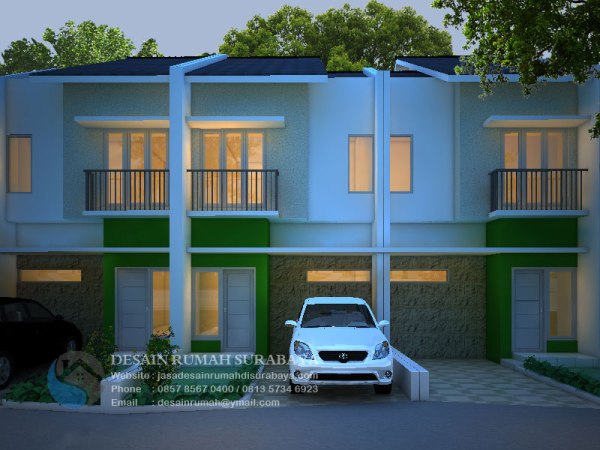 Jasa Desain Rumah Minimalis Modern 2 Lantai di Surabaya