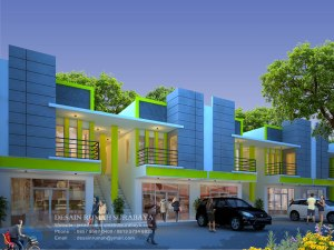 Jasa Desain Rumah Toko (Ruko) Minimalis 2 Lantai di Malang