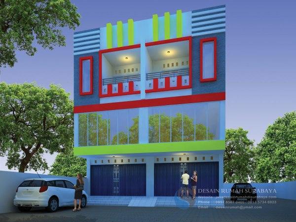 Jasa Desain Rumah Toko (Ruko) Minimalis 3 Lantai di Papua
