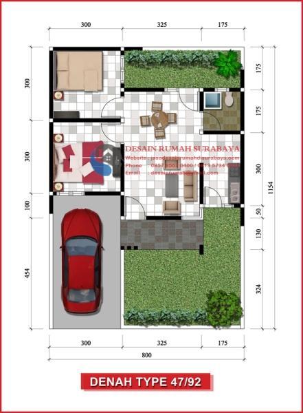 Jasa Desain Denah Rumah Type 47 di Sidoarjo