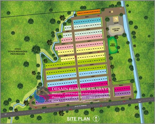 Jasa Desain Gambar Site Plan Perumahan di Surabaya